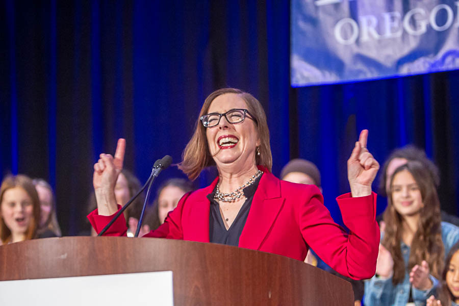 Kate Brown win