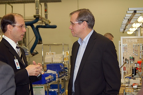 Senator Merkley and ClearEdge CEO