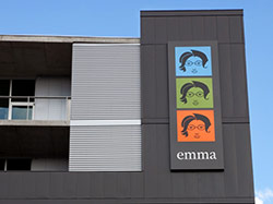 Emma's sign on the side of the bSIDE6 building