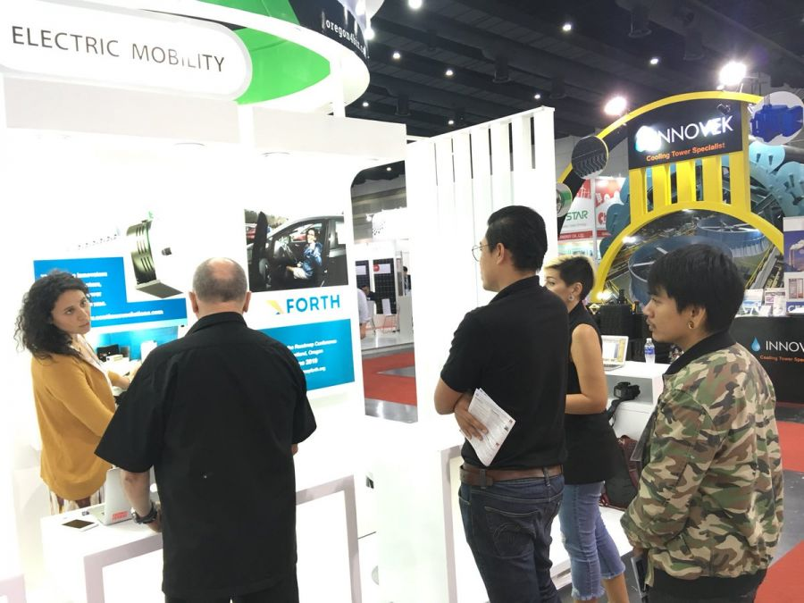 The Oregon booth, ASEAN trade show, Bangkok