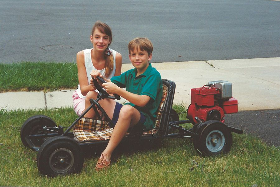 Urban mobility: the author and his sister Sarah (1984)