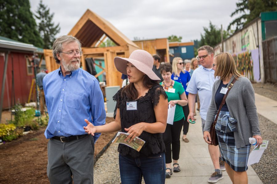 OCF Board Members and staff visit Emerald Village in Eugene