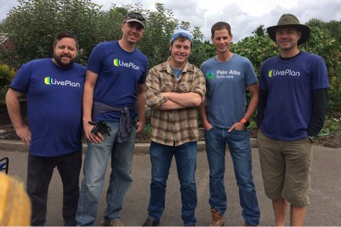 Palo Alto Software employees participating in the United  Way Day of Caring (2017)