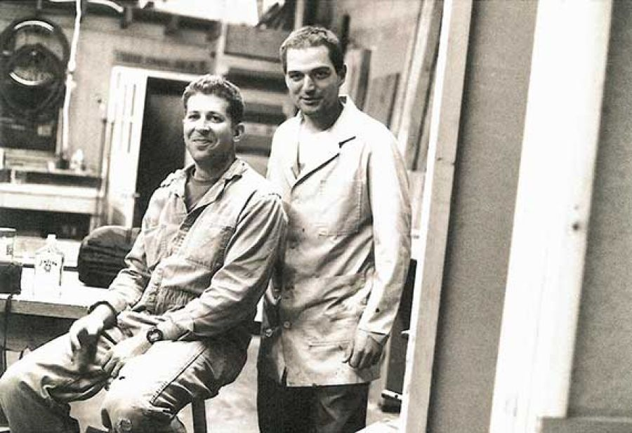 The author (right) with sculptor Doug Jeck at PNCA (1997)