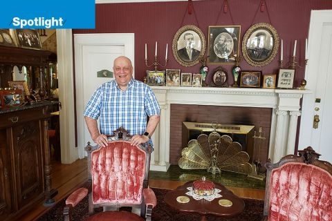 Steven Unger, co-owner of the Lion and the Rose Victorian Guest House