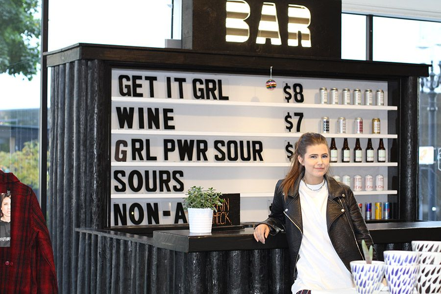 WildFang retail manager Amy Hjorth, pictured in the downtown store