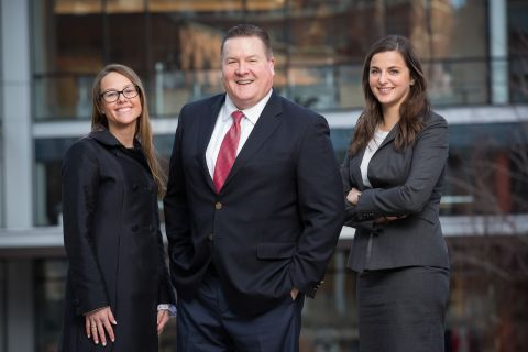 New litigation team members Kristin A. Eisenhaur, Derek J. Ashton and Kimberlee Petrie Volm.