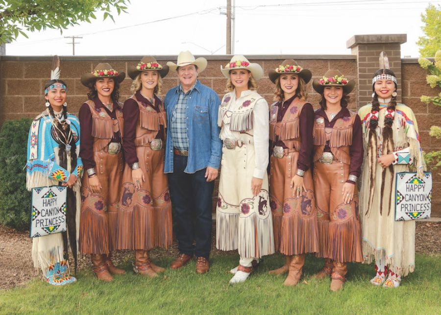 Happy Canyon Princess Tayler Craig, Round-Up Princess Elizabeth Herbes, Round-Up Princess Josilyn Fullerton, Jordan D. Schnitzer, Round-Up Queen Betsy West, Round-Up Princess Kaelyn Lindsay, Round-Up Princess Charla Simons, Happy Canyon Princess Sequoia Conner