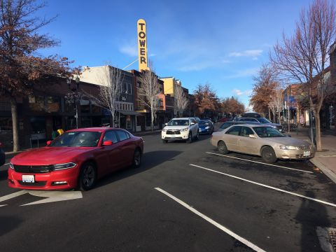 Bend offers plentiful free parking, incentivizing driving instead of transit