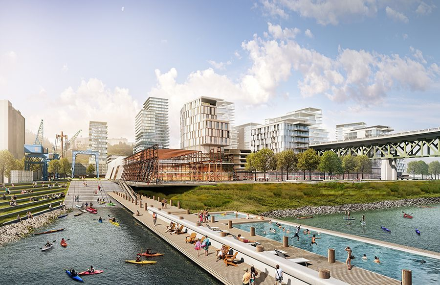 Zidell Yards is springing up on a former brownfield site in the South Waterfront neighborhood.