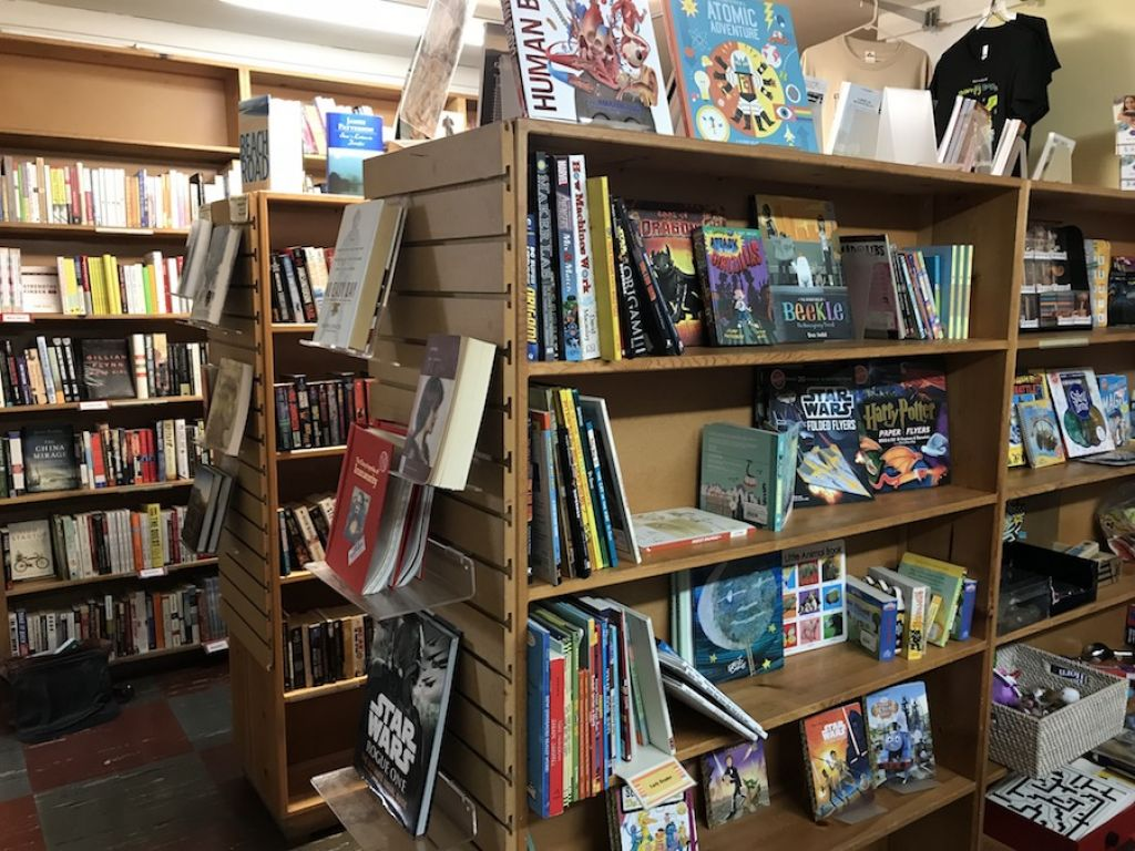 powells books has an small outlet at the country flowers store - Bookshelves For Bookstores