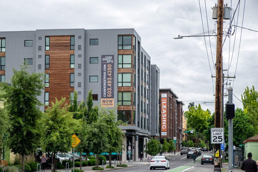 Apartments for lease in North Portland  (Click photo to enlarge.)