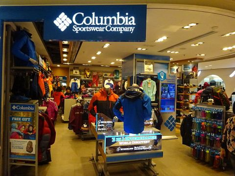 A Columbia Sportswear retail store