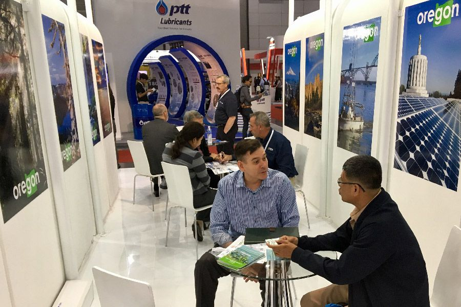 Dave Girard, representing Peterson Pacific Corporation, meeting with a Thai waste-to-energy company