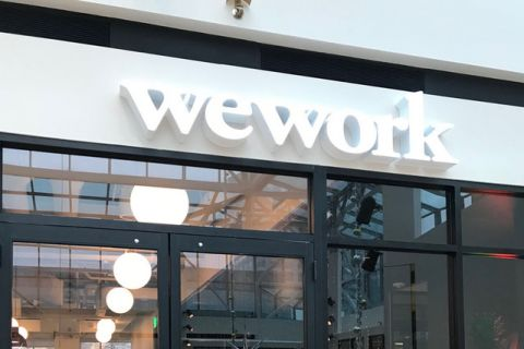 WeWork's office space in Pioneer Place mall, Portland